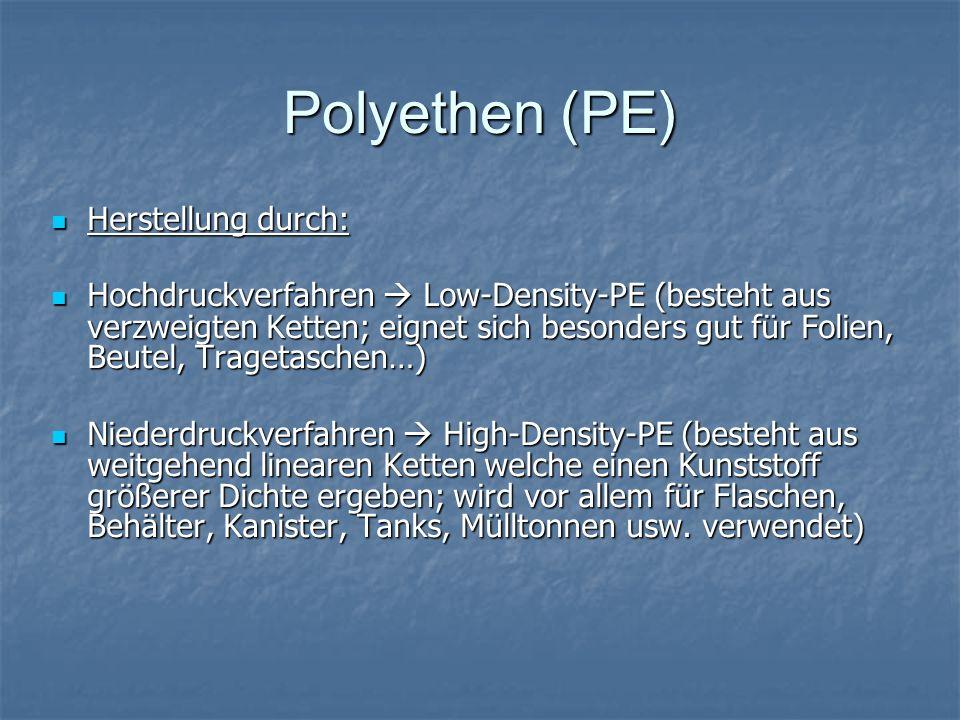 Polyethen (PE) Herstellung durch: