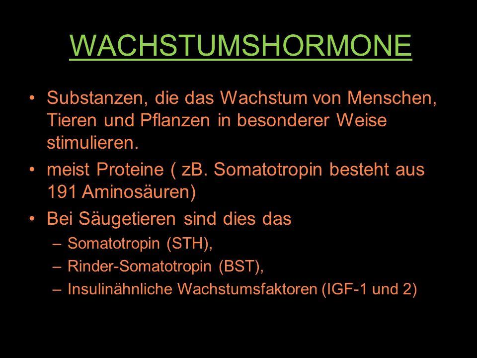 Anabolika WACHSTUMSHORMONE. Substanzen, die das Wachstum von Menschen, Tieren und Pflanzen in besonderer Weise stimulieren.