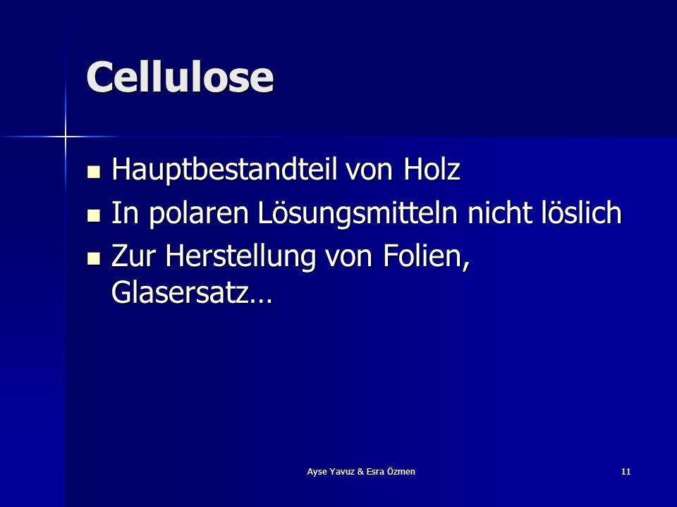 Cellulose Hauptbestandteil von Holz