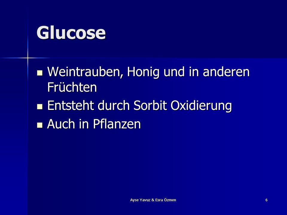 Glucose Weintrauben, Honig und in anderen Früchten