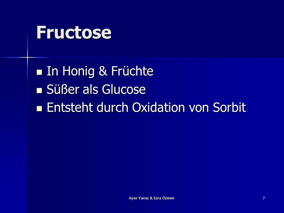 Fructose In Honig & Früchte Süßer als Glucose