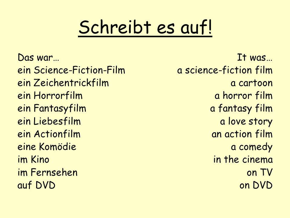 Schreibt es auf! Das war… ein Science-Fiction-Film