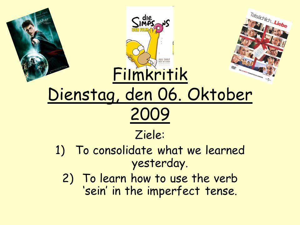 Filmkritik Dienstag, den 06. Oktober 2009