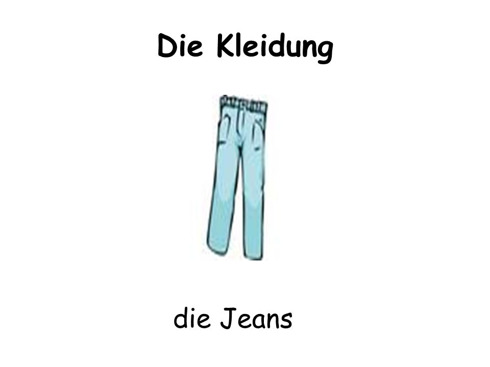 Die Kleidung die Jeans