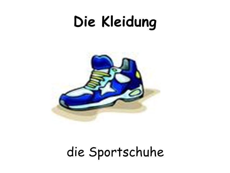 Die Kleidung die Sportschuhe