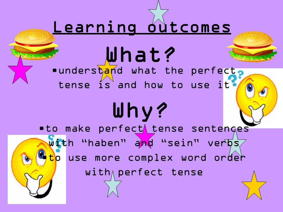 What Why Learning outcomes understand what the perfect