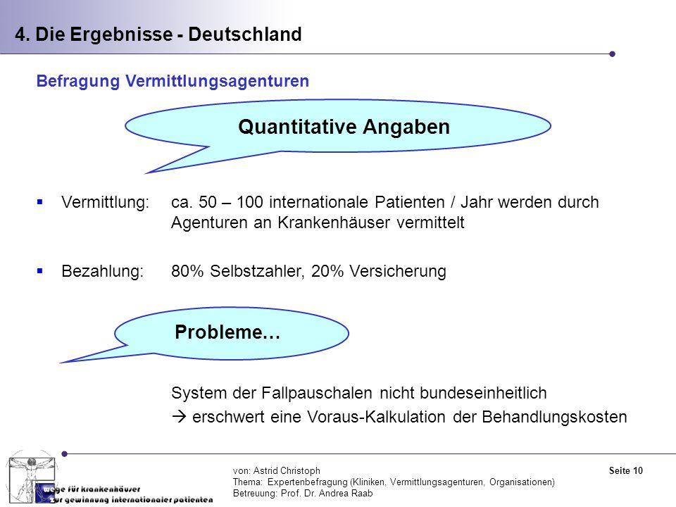 Quantitative Angaben 4. Die Ergebnisse - Deutschland Probleme…