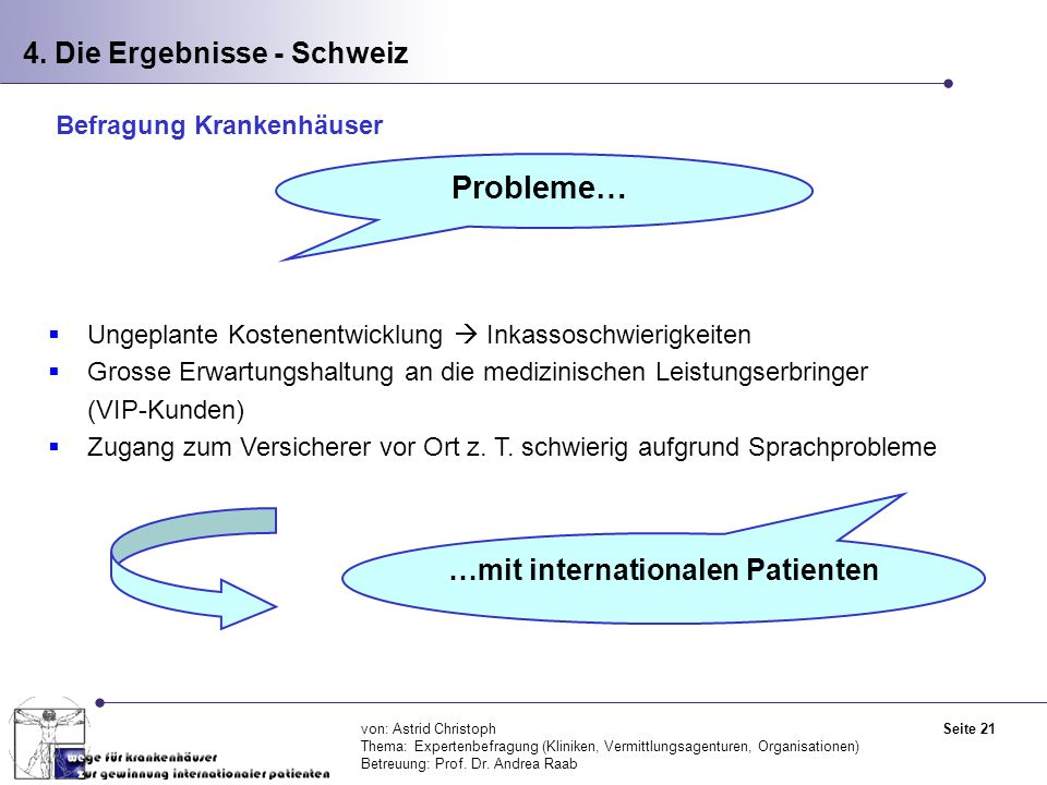 …mit internationalen Patienten