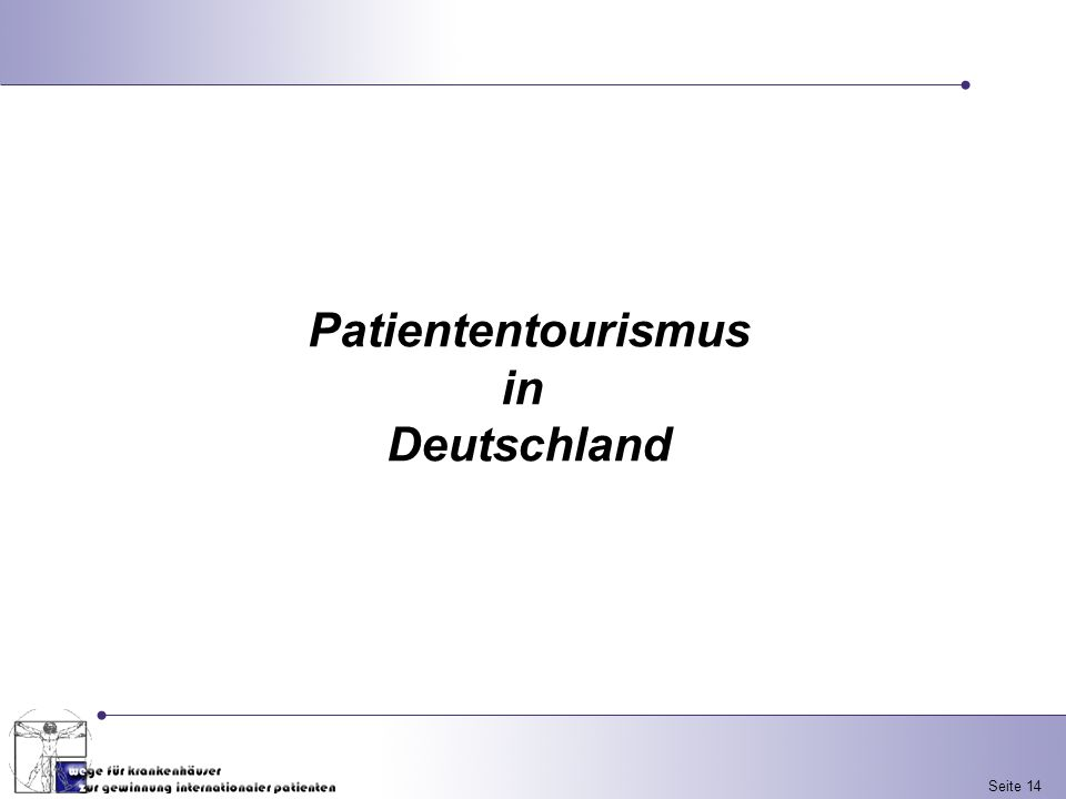 Patiententourismus in Deutschland
