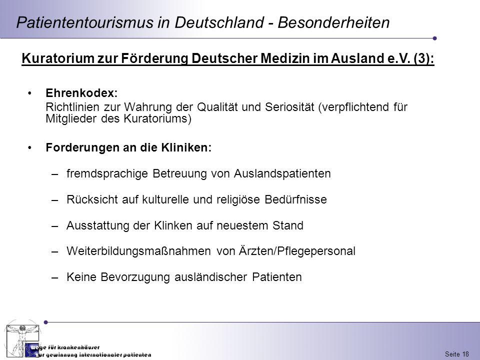 Patiententourismus in Deutschland - Besonderheiten