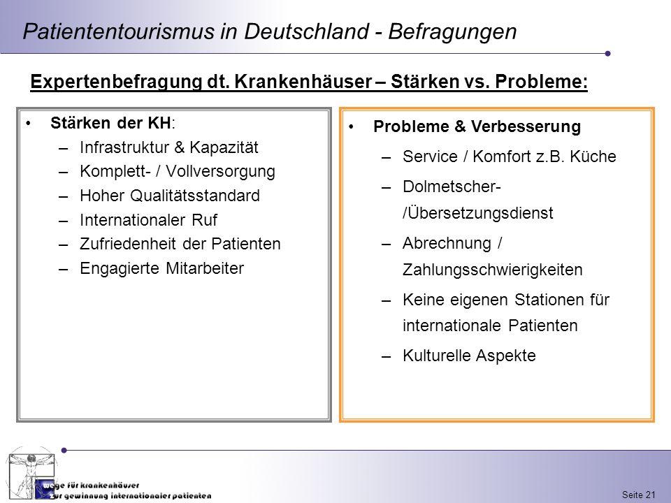 Patiententourismus in Deutschland - Befragungen