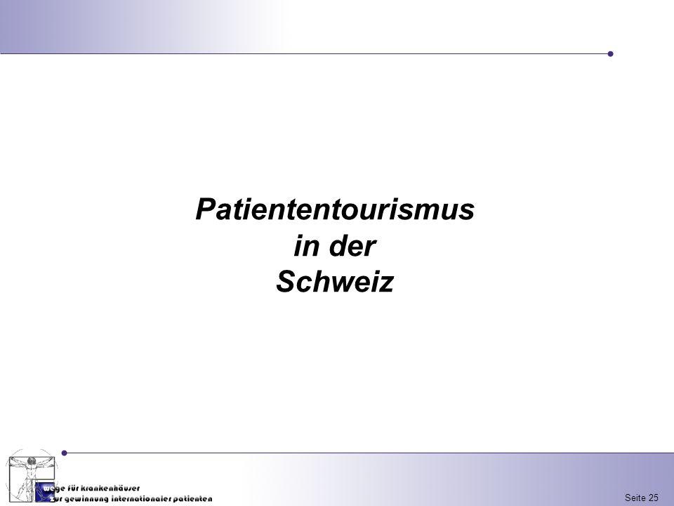 Patiententourismus in der Schweiz