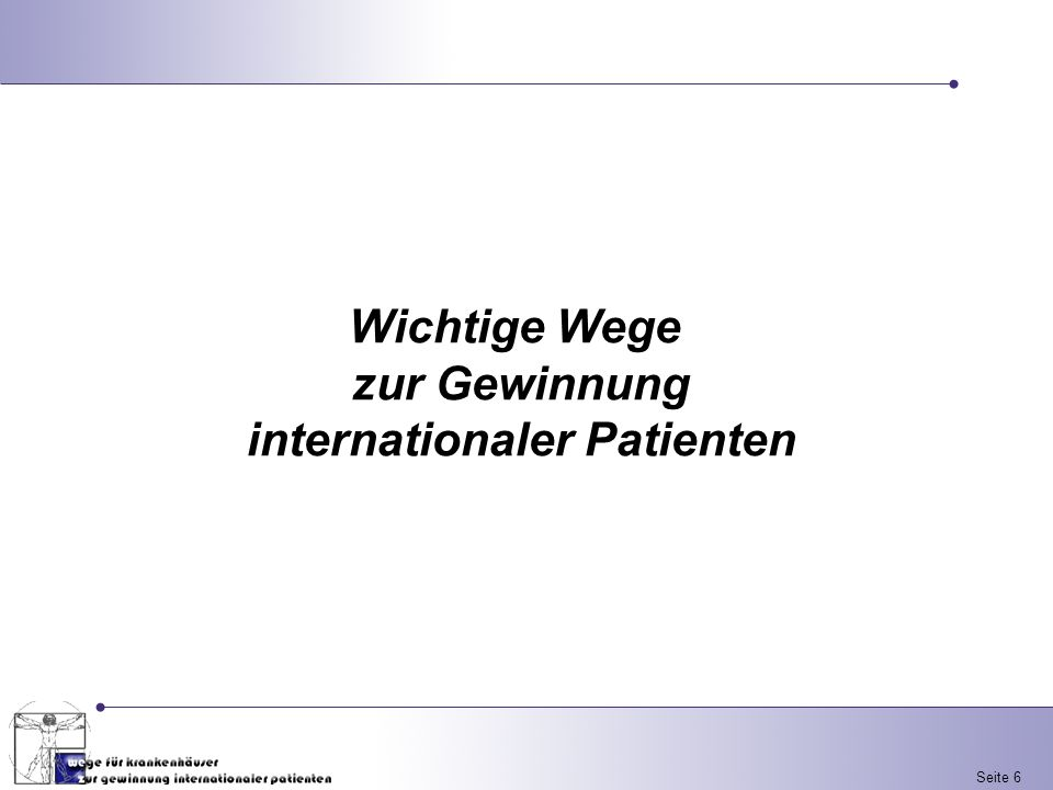 internationaler Patienten