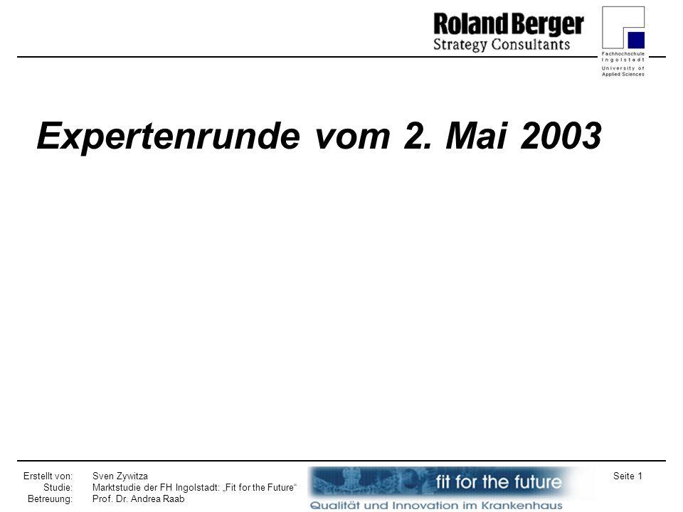 Expertenrunde vom 2. Mai 2003