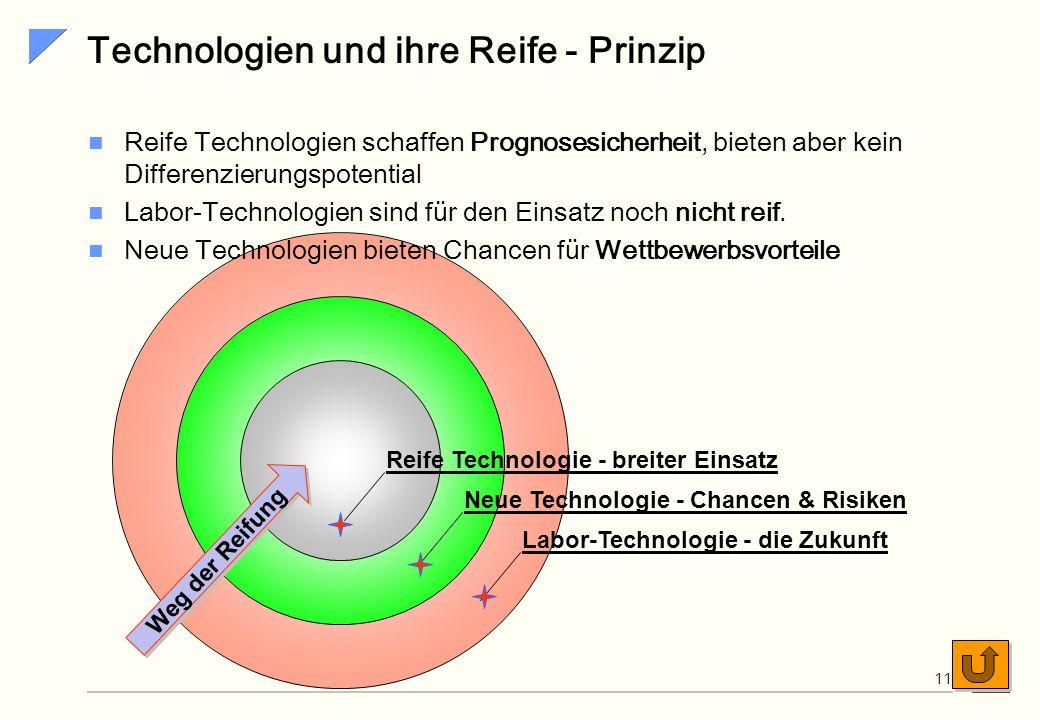 Technologien und ihre Reife - Prinzip