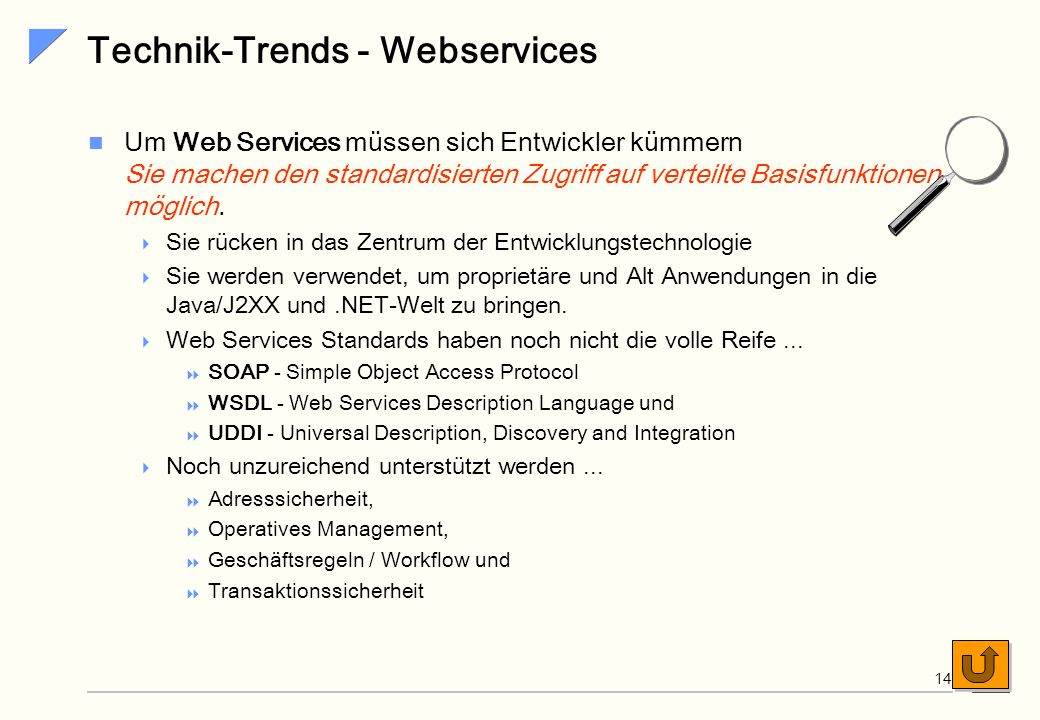 Technik-Trends - Webservices