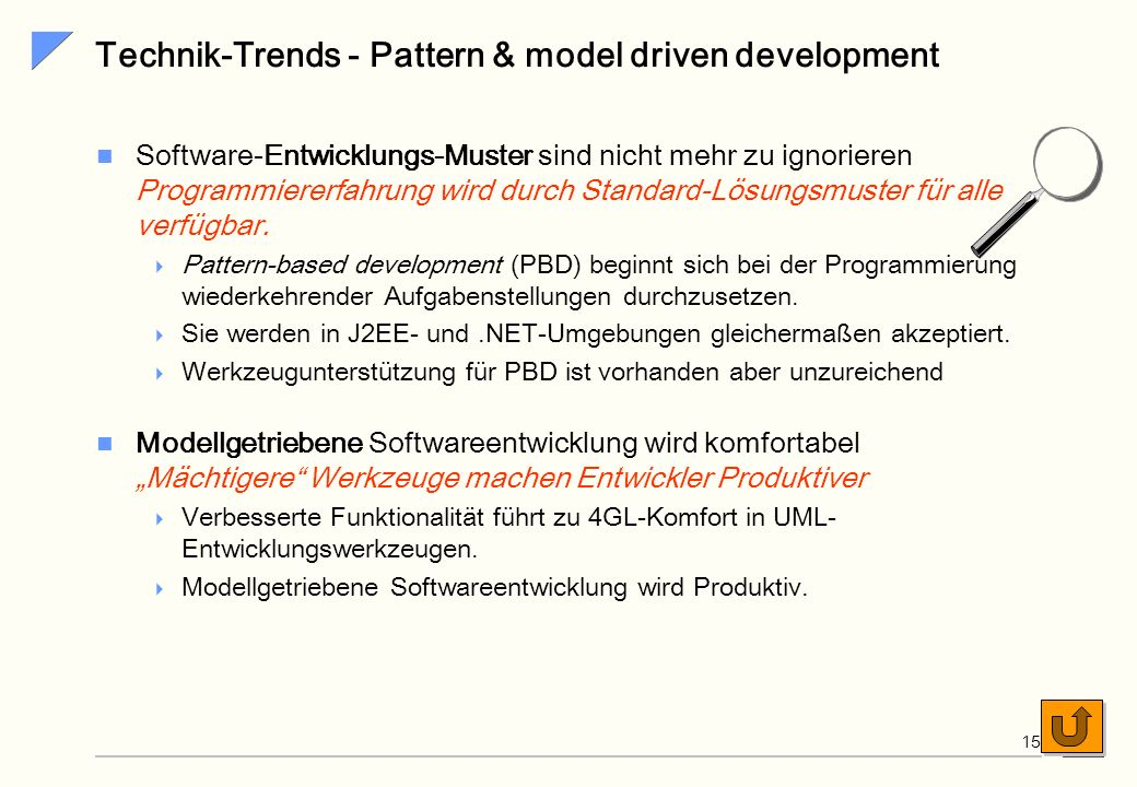 Technik-Trends - Pattern & model driven development