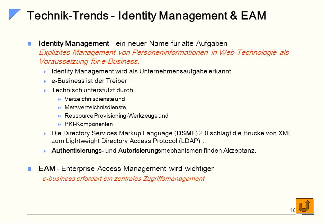Technik-Trends - Identity Management & EAM