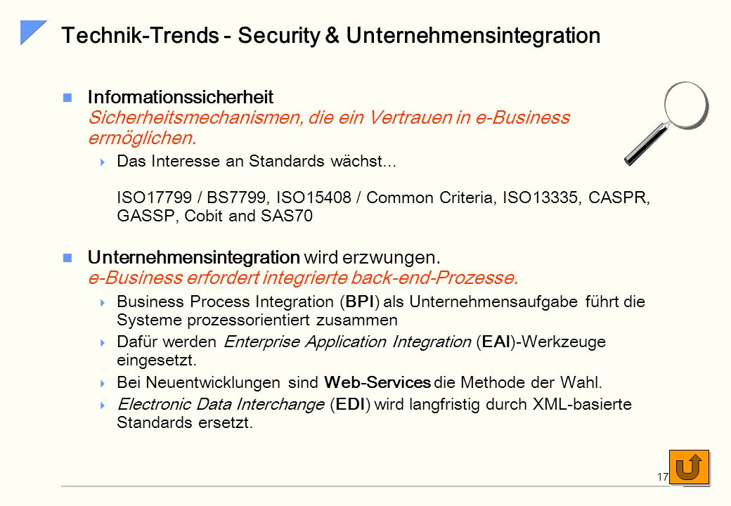 Technik-Trends - Security & Unternehmensintegration
