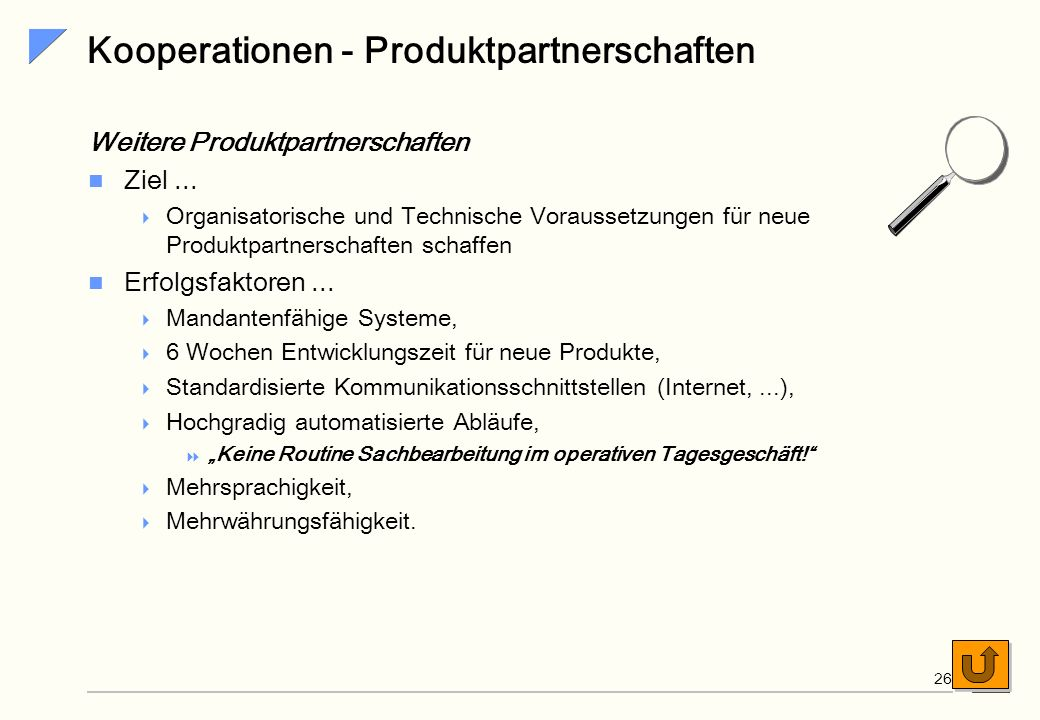 Kooperationen - Produktpartnerschaften