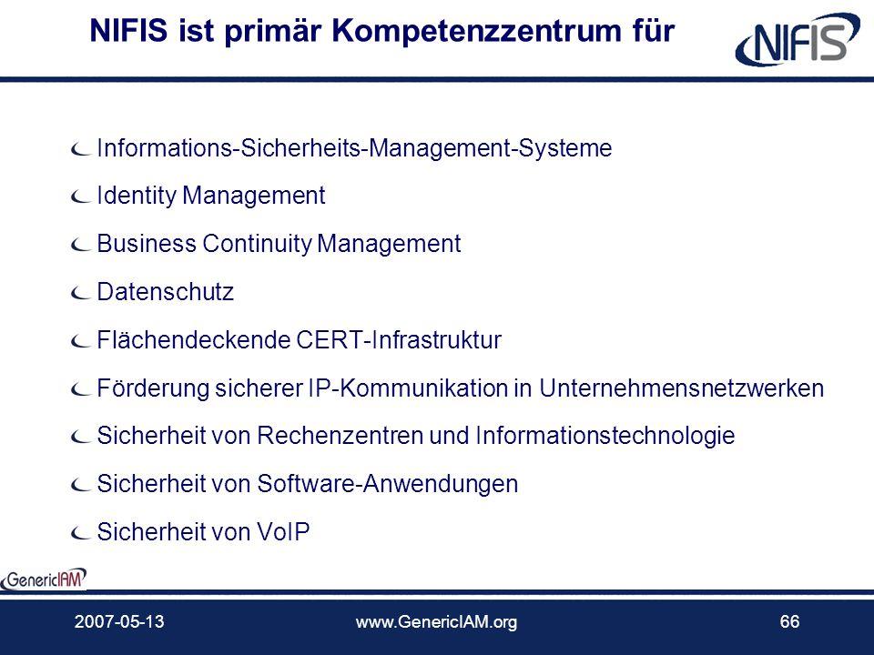 NIFIS ist primär Kompetenzzentrum für