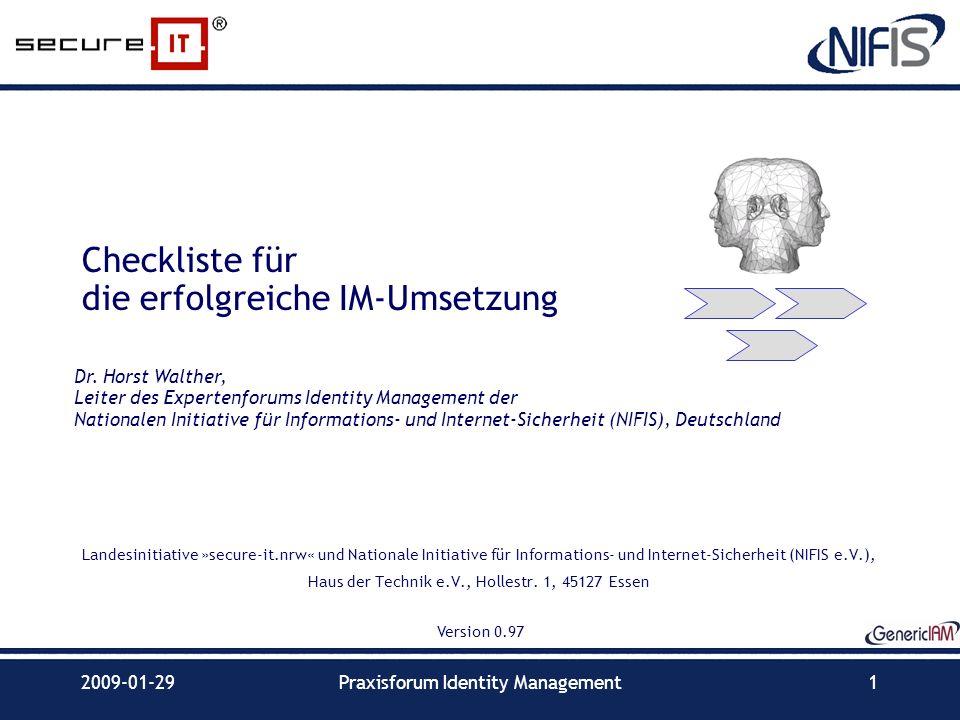 Checkliste für die erfolgreiche IM-Umsetzung