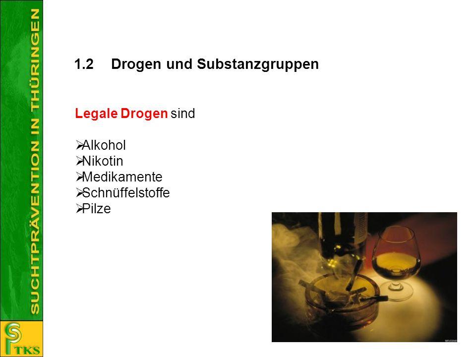 1.2 Drogen und Substanzgruppen