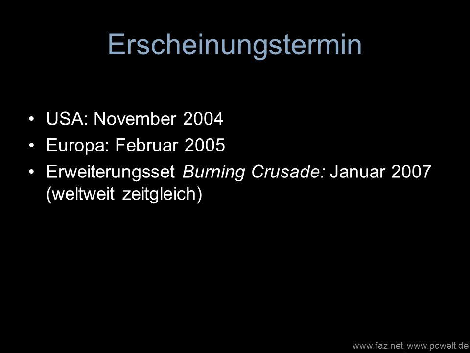 Erscheinungstermin USA: November 2004 Europa: Februar 2005
