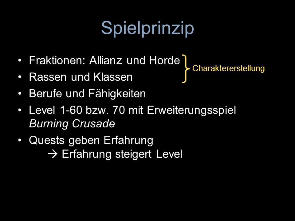 Spielprinzip Fraktionen: Allianz und Horde Rassen und Klassen