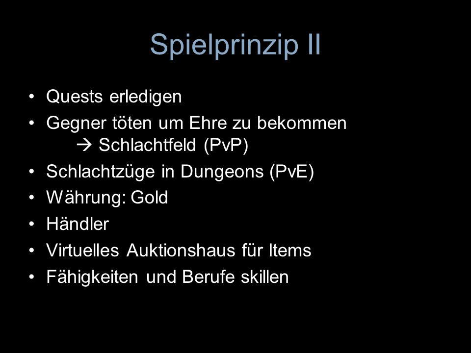 Spielprinzip II Quests erledigen