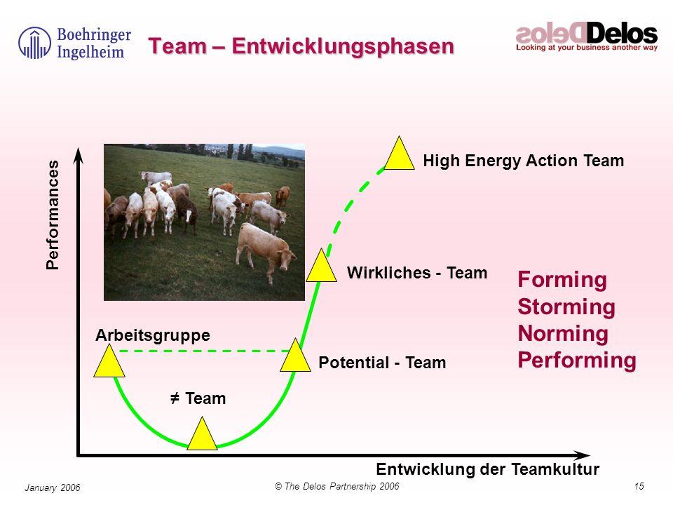 Team – Entwicklungsphasen