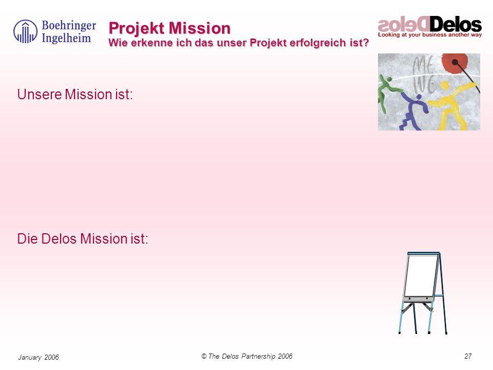 Projekt Mission Wie erkenne ich das unser Projekt erfolgreich ist