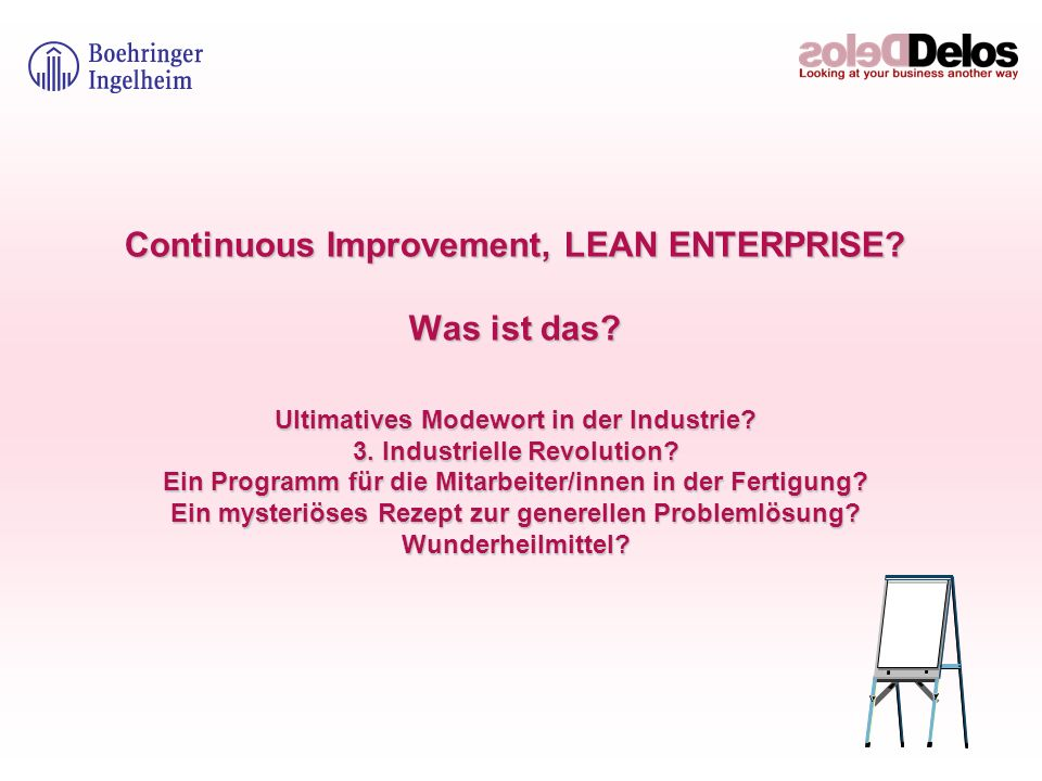 Continuous Improvement, LEAN ENTERPRISE. Was ist das