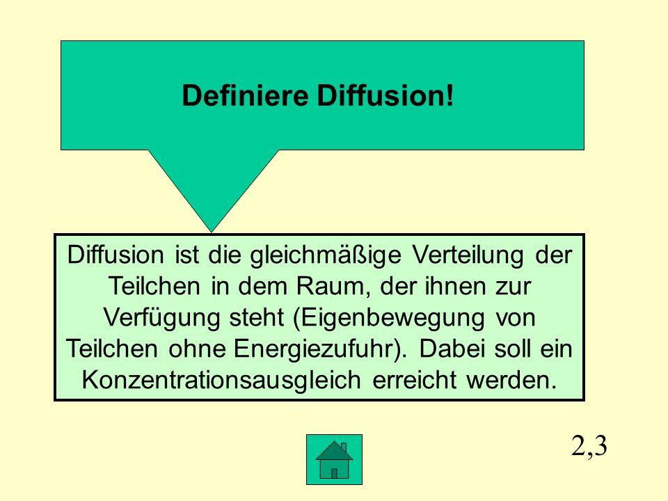 Definiere Diffusion!
