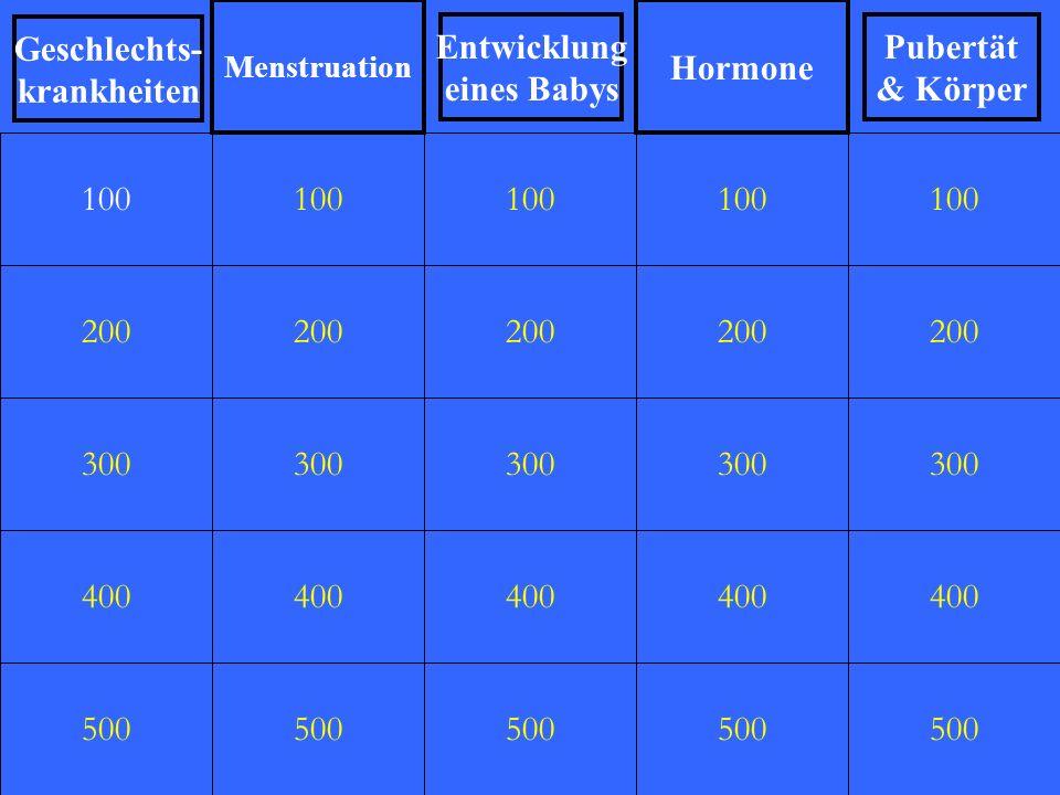 Hormone Geschlechts- krankheiten Entwicklung eines Babys