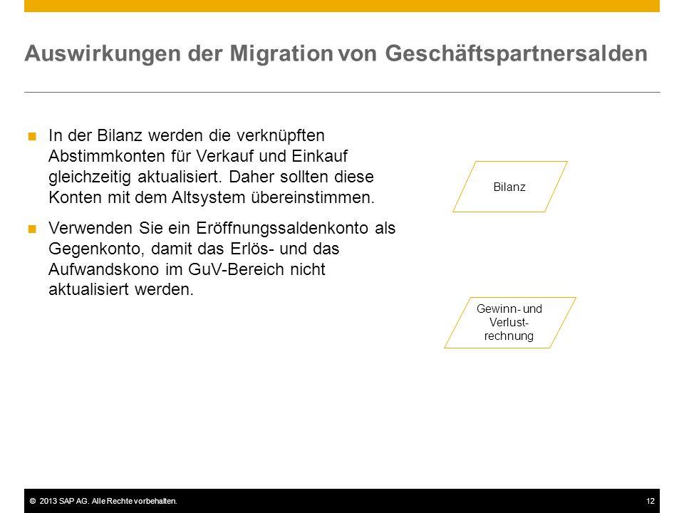 Auswirkungen der Migration von Geschäftspartnersalden