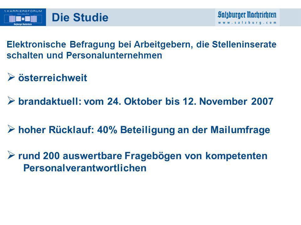 Die Studie österreichweit
