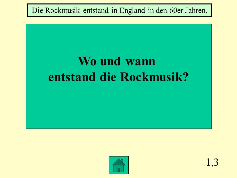 entstand die Rockmusik