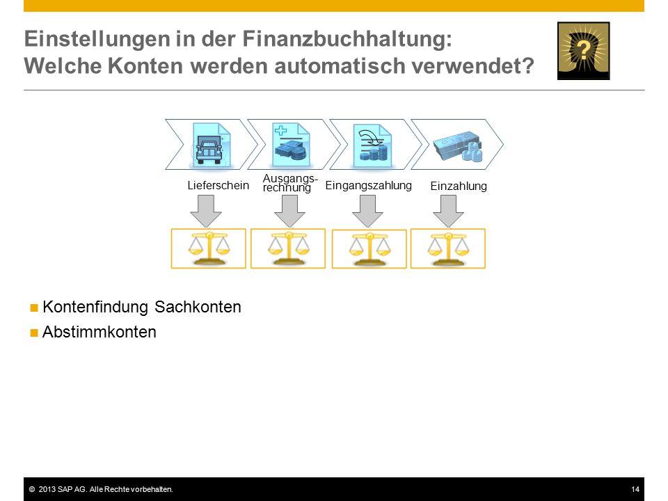Einstellungen in der Finanzbuchhaltung: Welche Konten werden automatisch verwendet