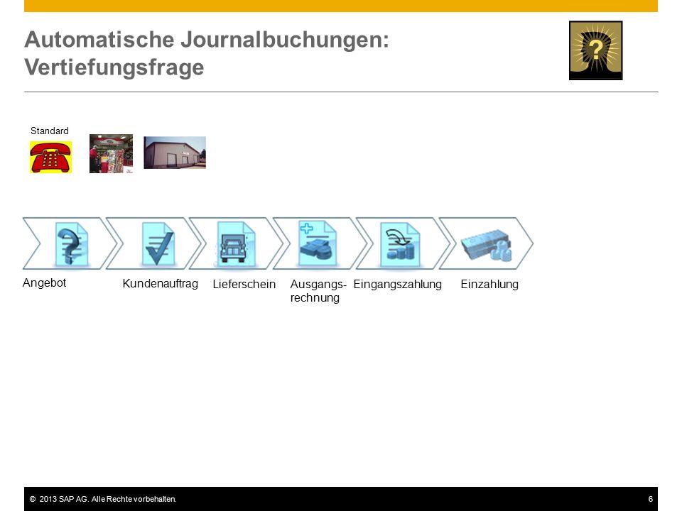 Automatische Journalbuchungen: Vertiefungsfrage