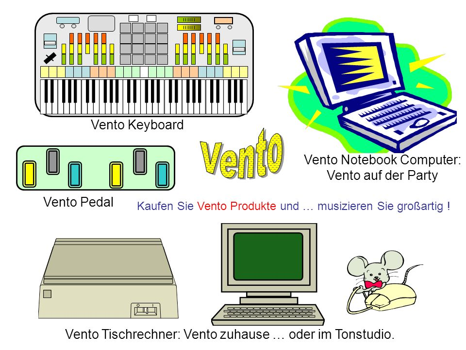 Vento Vento Keyboard Vento Notebook Computer: Vento auf der Party