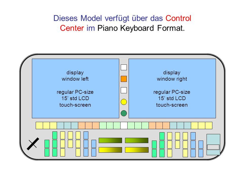 Dieses Model verfügt über das Control Center im Piano Keyboard Format.