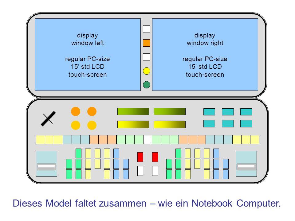 Dieses Model faltet zusammen – wie ein Notebook Computer.