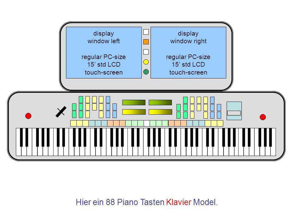 Hier ein 88 Piano Tasten Klavier Model.