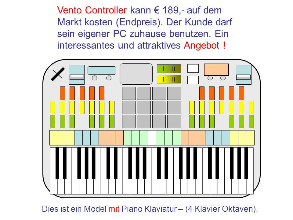 Dies ist ein Model mit Piano Klaviatur – (4 Klavier Oktaven).