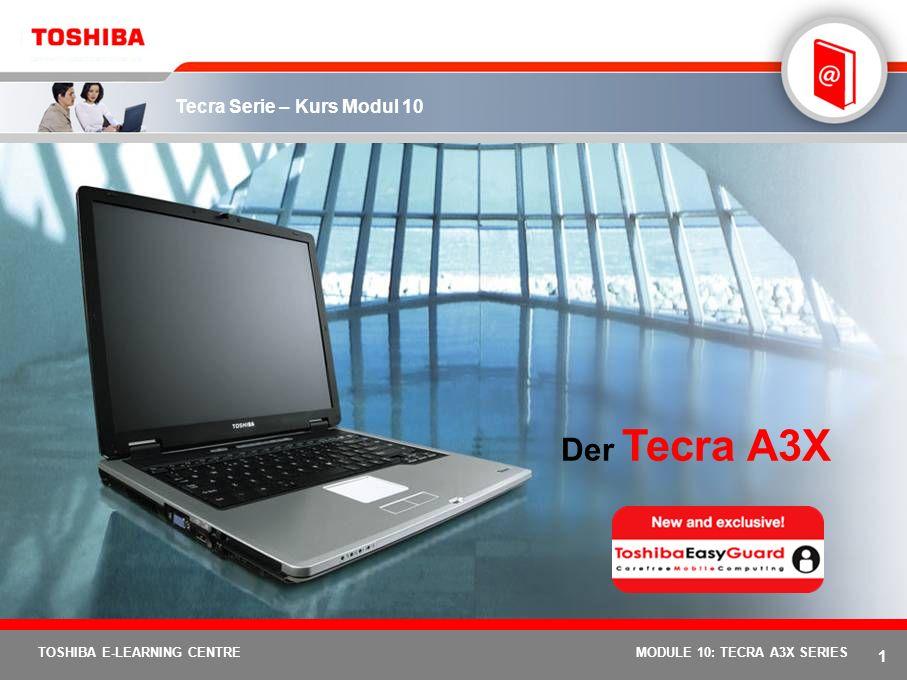 Der Tecra A3X MODULE 10: TECRA A3X SERIES 1