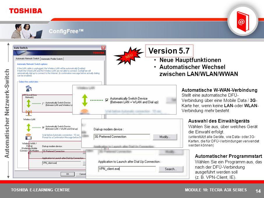 Version 5.7 Neue Hauptfunktionen