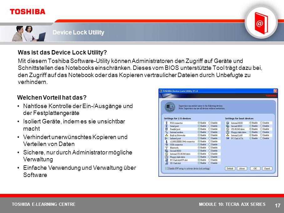 Was ist das Device Lock Utility