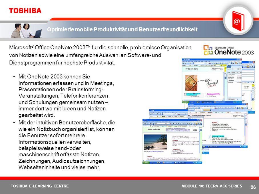 Optimierte mobile Produktivität und Benutzerfreundlichkeit