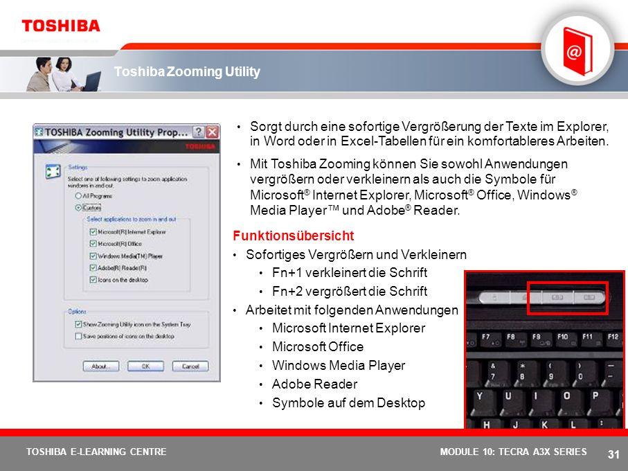 Toshiba Zooming Utility
